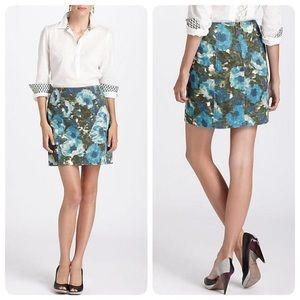 Anthropologie 9-h15 stcl calabria printed skirt
